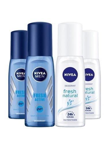 Nivea Nivea Fresh Bay-Bayan Deodorant Seti 75 Ml X4 Renksiz